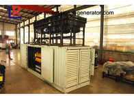 50Hz 1000kw Container Generator Set With Electrical Start Motor , 5 ~ 12 kPa Fuel Gas Pressure