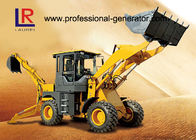 1800kg Mini Backhoe Wheel Loader With 0.8 bucket 55kw YUNNEI Engine