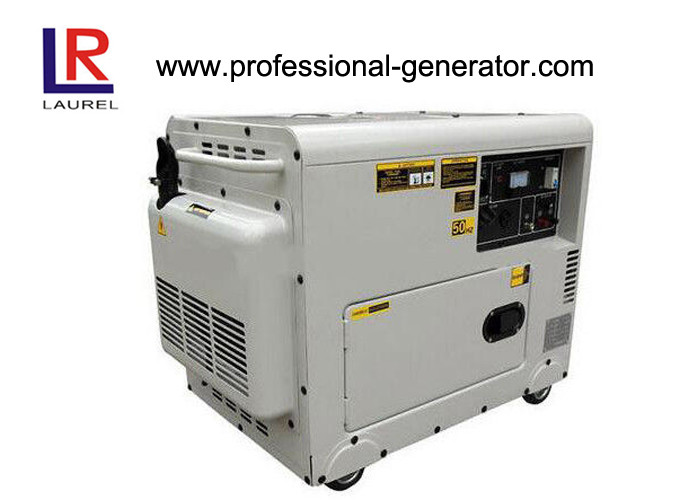 Copper Wire Silent 5kw Diesel Generator AC Single Phase , Small Size Save 8% Freight