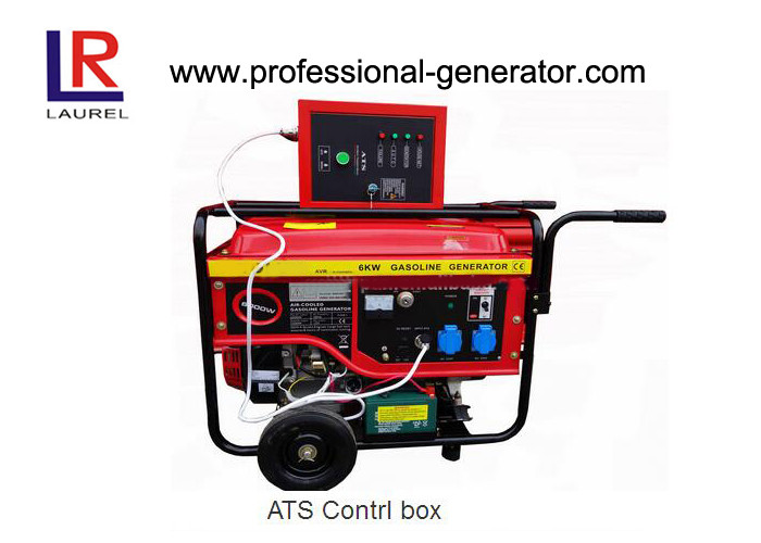 Open Type 5kVA Portable Gasoline Generator with ATS Control Box , 100% Copper Wire