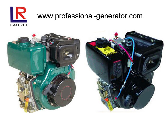 Portable 10HP Single Cylinder Diesel Engine with 4 Stroke Manual / Electric Start , Air Cooled 406cc
