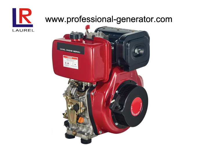 Single Cylinder 4 Stroke Air - cooled 7.4kw 10HP Industrial Diesel Engines with Recoil Electric Start