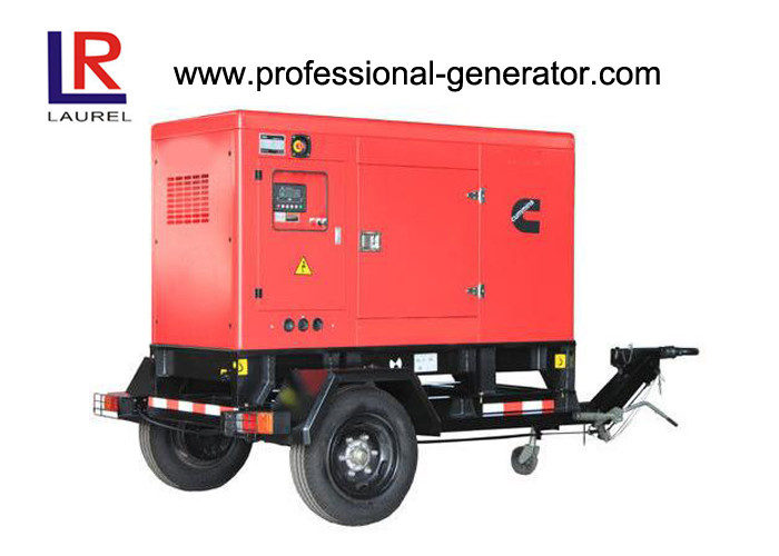 Trailer Type Mobile Power Generator 20 - 400 Kw , Height Adjustable Of Traction Head