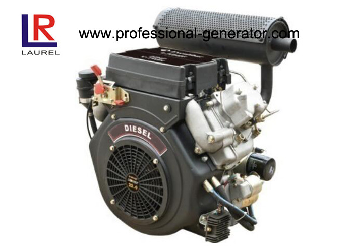 Air - cooled Vertical V Twin 22HP 870F Industrial Diesel Engines with 4 Stroke Direct Injection