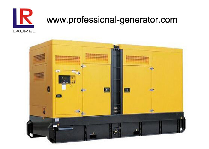 Soundproof AC Three Phase Cummins Diesel Generator , 37.8L Displacement Brushless AVR