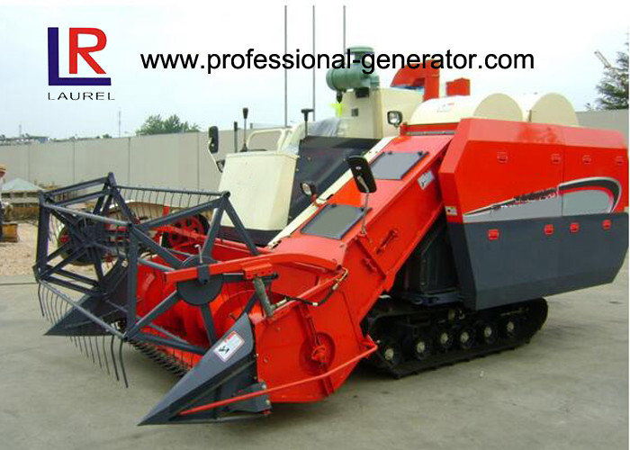 Diesel Engine 65kW Rice Wheat Grain Full Feed Agriculture Harvester Double Vibrating Sieve