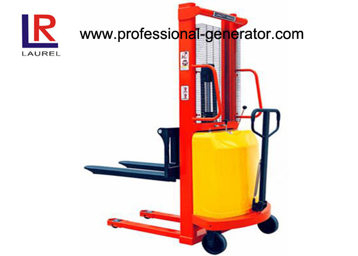 Industrial Warehouse Material Handling Equipment Straddle Leg Semi Electric Stacker 1.5T